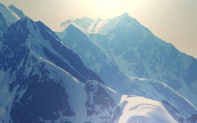 Plakat Wysokie góry Kaukaz