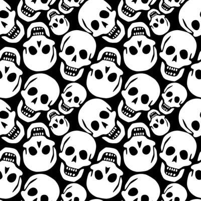 Plakat wzór czaszki