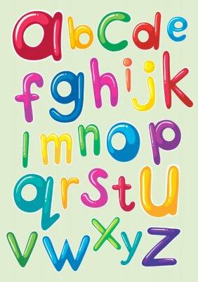 Plakat wzór czcionki z alfabet angielski