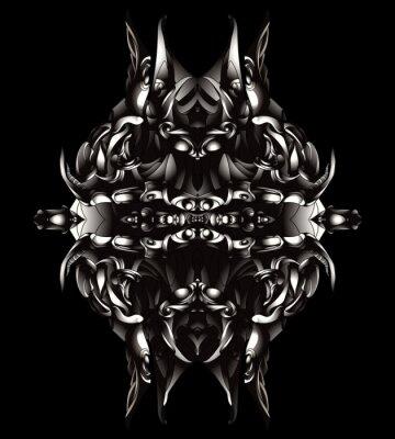 wzór metalowe splotu