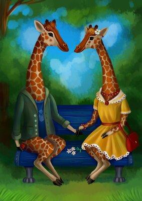 Plakat Жираф на свидание