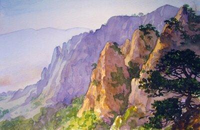 Plakat Вершины гор.