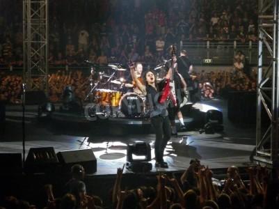 Plakat Koncert zespołu â € œMetallicaâ €, Rome 24 czerwca 2009 roku zespołu.