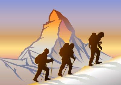 Plakat Matterhorn ve Dağcılar