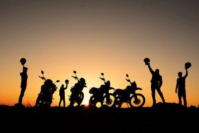Plakat motorsiklet takımı