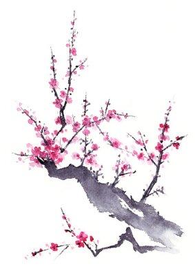 Plakat 梅 水墨画