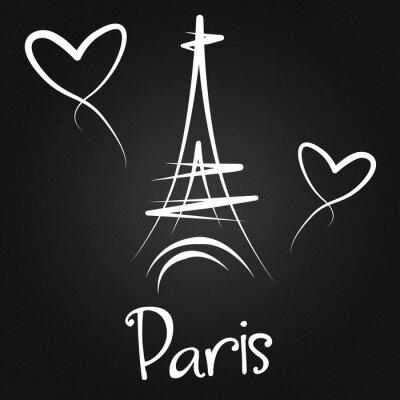 Plakat Z Paryża z wyrazami miłości