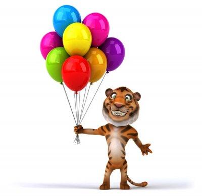 Plakat Zabawa tygrysa