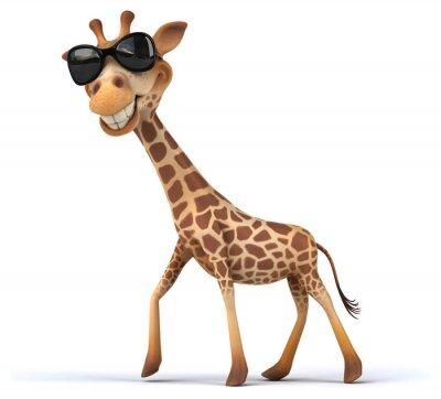 Plakat Zabawa żyrafa