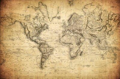 Plakat Zabytkowe mapy świata 1814 ..