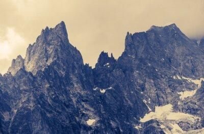 Plakat Zachmurzenie Alp Góry