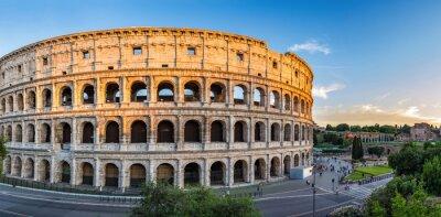 Plakat zachód słońca na Koloseum - Rzym - Włochy
