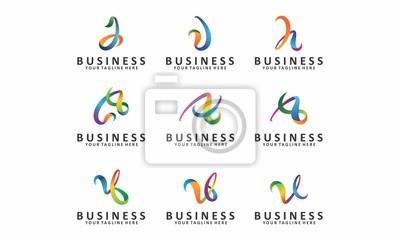 Plakat Zbieranie Materiału Alfabet Projektowanie Logo