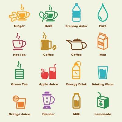 Plakat zdrowe elementy napój