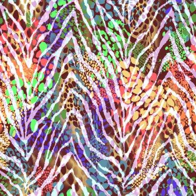 Plakat zebra kolorowe tekstury na plamy ~ bezszwowe tło