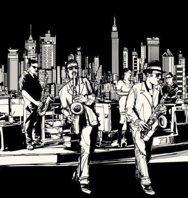 Plakat Zespół jazzowy grający w Nowym Jorku