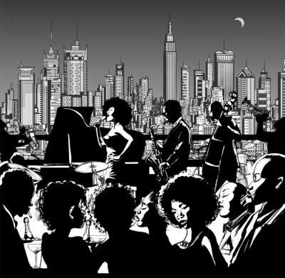 Plakat Zespół muzyczny Jazz występując w Nowym Jorku