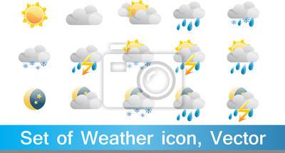 Zestaw 15 wysokiej jakości ikon wektorowych pogodowych
