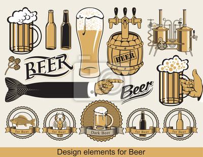 zestaw elementów projektu dla piwa