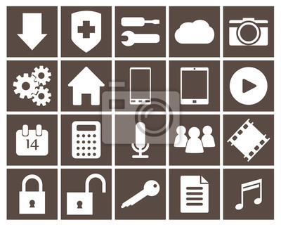 Zestaw ikon dla aplikacji mobilnych