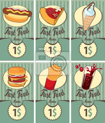 zestaw kart biznesowych dla fast food