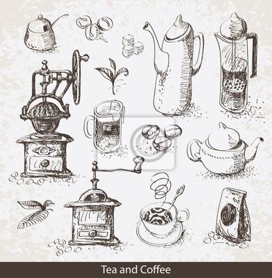 Zestaw przyborów do picia herbaty i kawy