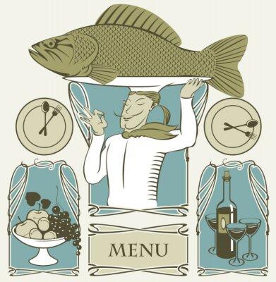 zestaw ryb gotować na głowie i dwóch dań