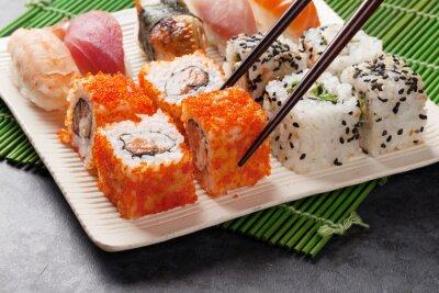 Plakat Zestaw sushi i maki