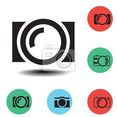 zestaw trzech ikon kamer