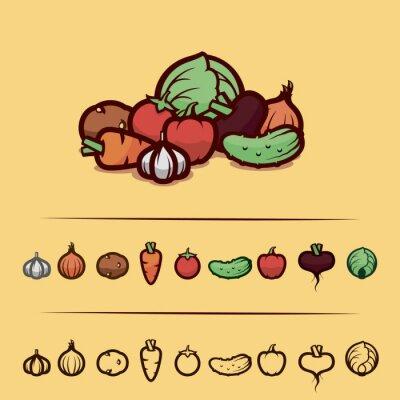 Plakat zestaw warzyw