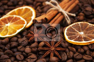 Plakat ziaren kawy i przypraw