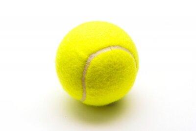 Plakat zielone piłka tenisowa na białym tle