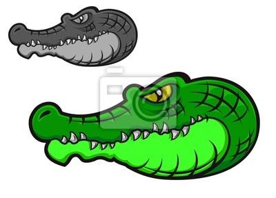 Zielony krokodyl cartoon