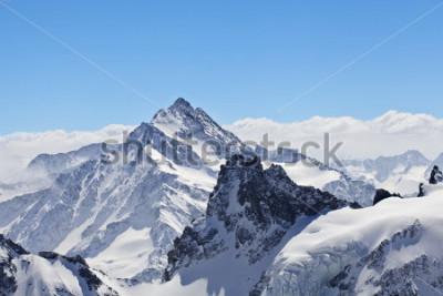Plakat Zimowy krajobraz w Matterhorn