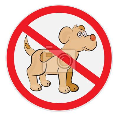 Plakat Znak nie psy