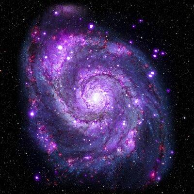 Plakat Zobacz obraz systemu Galaxy pojedyncze elementy tego zdjęcia dostarczone przez NASA