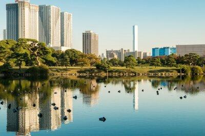 Plakat Zobacz Tokio miasta z parku
