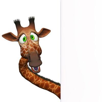 Plakat Żyrafa z pustym pokładzie