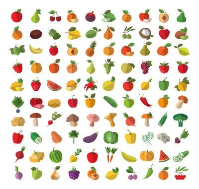 Plakat Żywności. Owoce i warzywa.