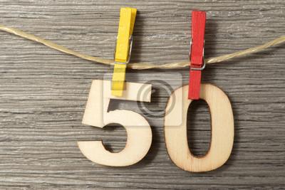 50 Urodziny Dekoracji Ubrania Peg Linia Ubrań 50 Myloviewpl