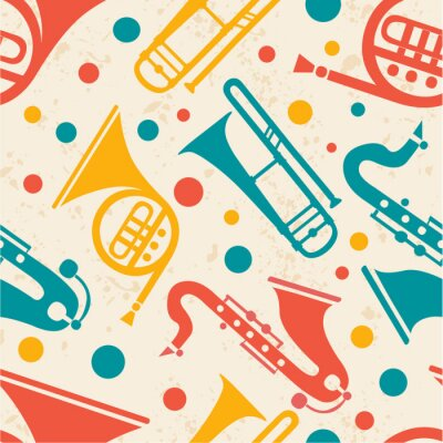 Tapeta Abstract musical seamless pattern.