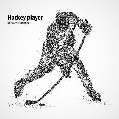 Tapeta abstrakcja, hokej, lód, Puck