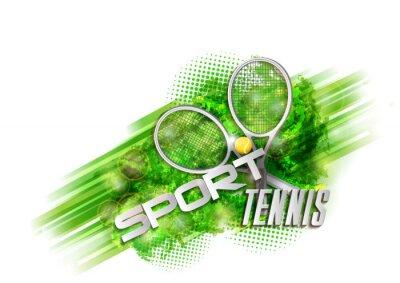 Tapeta abstrakcyjne tło sportu tenisowego