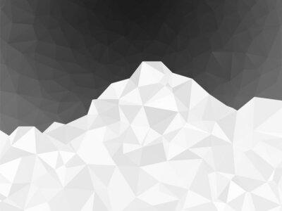 Tapeta abstrakcyjny biały geometrycznej góra