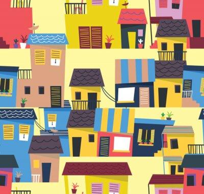 Tapeta abstrakcyjny wzór domu