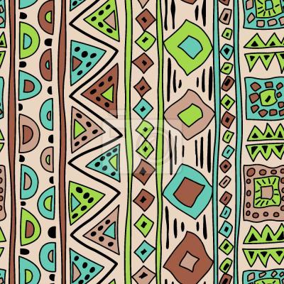 Tapeta African Art Stripes