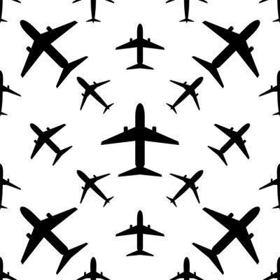 Tapeta Airplane (Aeroplane) Icon Seamless Pattern