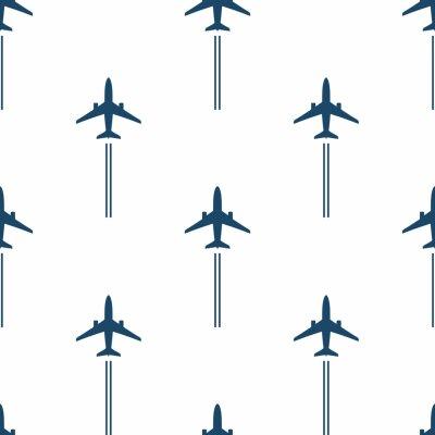 Tapeta Airplane. Seamless pattern.