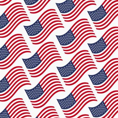 Tapeta Amerykańskie flagi wektor