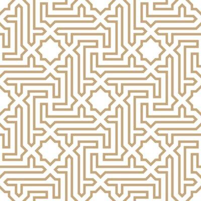Tapeta arabski geometryczny ornament bez szwu